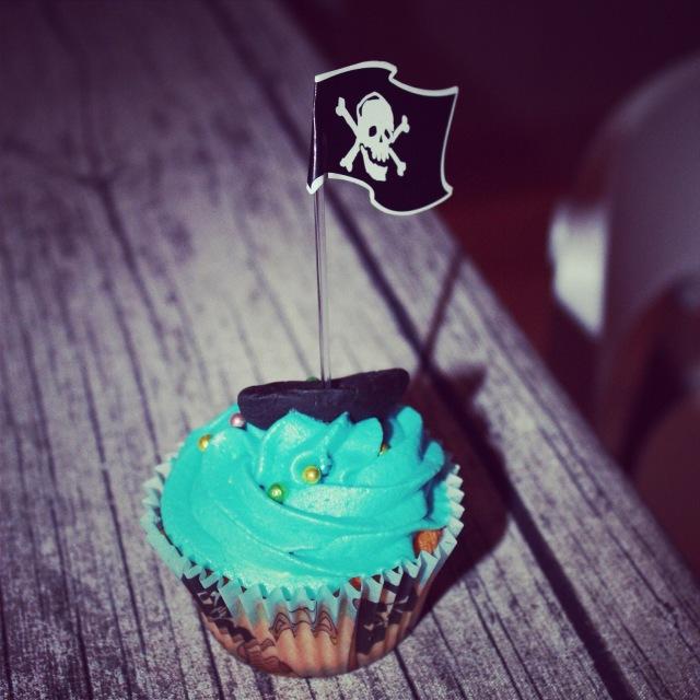 sjørøver cupcake